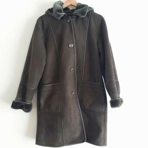 Liz Claiborne Faux Suede Winter Coat